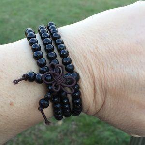 Mala Meditation prayer 108 wooden beads bracelet